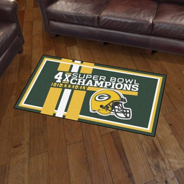 Picture of Green Bay Packers Dynasty 3x5 Rug