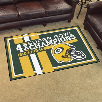 Picture of Green Bay Packers Dynasty 4x6 Rug
