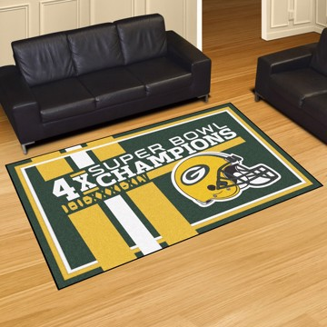 Picture of Green Bay Packers Dynasty 5x8 Rug