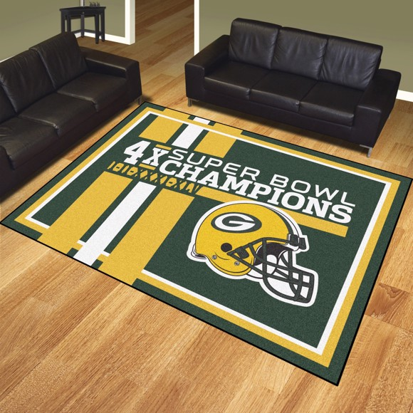 Picture of Green Bay Packers Dynasty 8x10 Rug