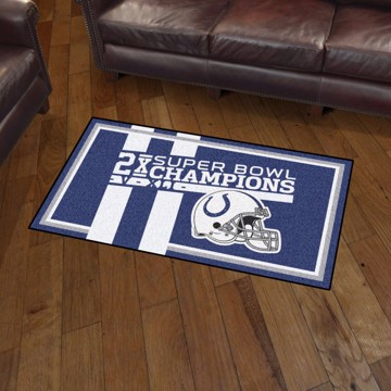 Picture of Indianapolis Colts Dynasty 3x5 Rug