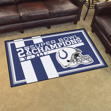 Picture of Indianapolis Colts Dynasty 4x6 Rug