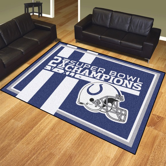 Picture of Indianapolis Colts Dynasty 8x10 Rug