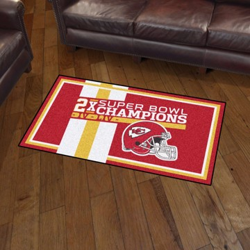 Picture of Kansas City Chiefs Dynasty 3x5 Rug