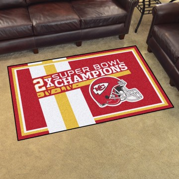 Picture of Kansas City Chiefs Dynasty 4x6 Rug