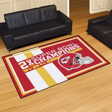 Picture of Kansas City Chiefs Dynasty 5x8 Rug