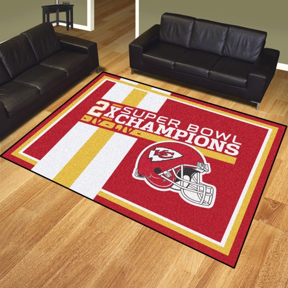 Picture of Kansas City Chiefs Dynasty 8x10 Rug