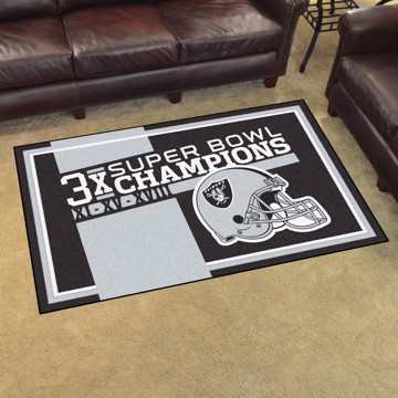 Picture of Las Vegas Raiders Dynasty 4x6 Rug