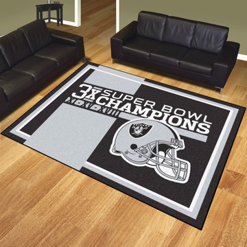 Picture of Las Vegas Raiders Dynasty 8x10 Rug