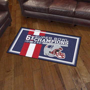 Picture of New England Patriots Dynasty 3x5 Rug
