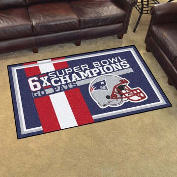 Picture of New England Patriots Dynasty 4x6 Rug