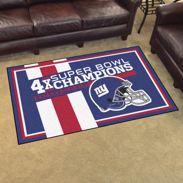 Picture of New York Giants Dynasty 4x6 Rug