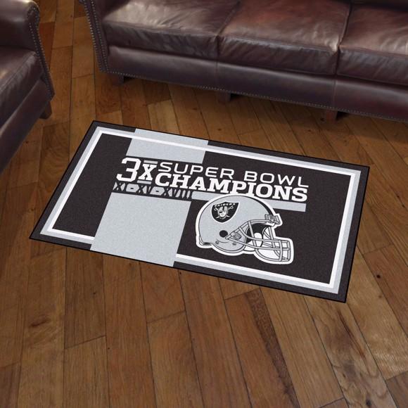 Picture of Las Vegas Raiders Dynasty 3x5 Rug