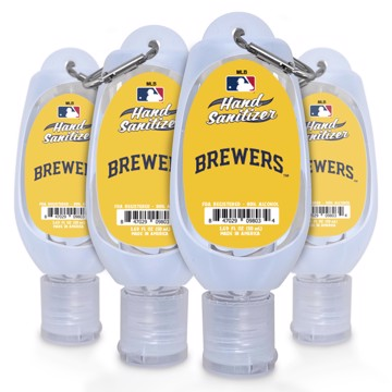 Picture of Milwaukee Brewers 1.69 oz Travel Keychain Sanitizer