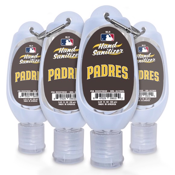 Picture of San Diego Padres 1.69 oz Travel Keychain Sanitizer