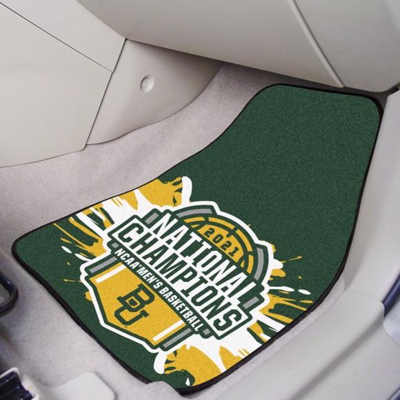Picture of Baylor University NCAA Basketball 2021 Championship 2-pc Carpet Car Mat Set