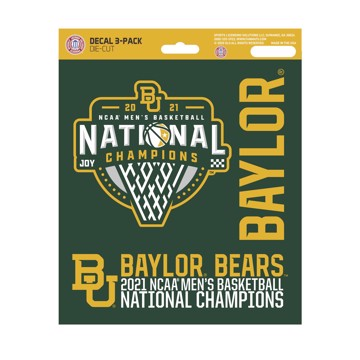 Picture of Baylor University NCAA Basketball 2021 Championship Decal 3-pk