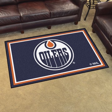 Picture of NHL - Edmonton Oilers 4'x6' Plush Rug