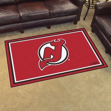 Picture of NHL - New Jersey Devils 4'x6' Plush Rug