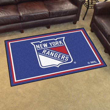 Picture of NHL - New York Rangers 4'x6' Plush Rug
