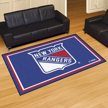 Picture of NHL - New York Rangers 5'x8' Plush Rug