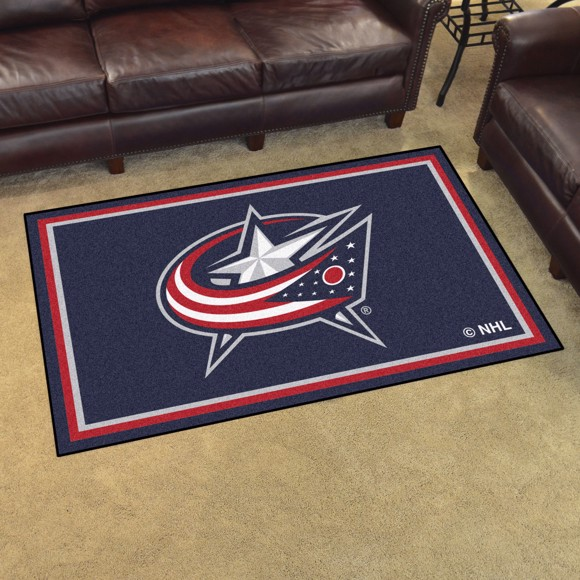 Picture of NHL - Columbus Blue Jackets 4'x6' Plush Rug