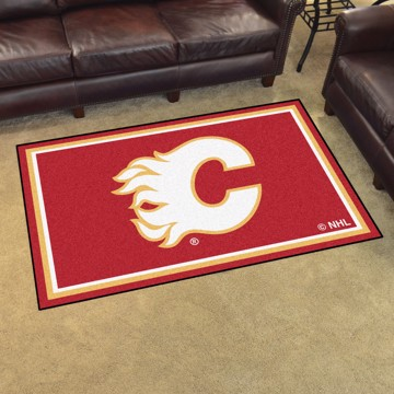 Picture of NHL - Calgary Flames 4'x6' Plush Rug