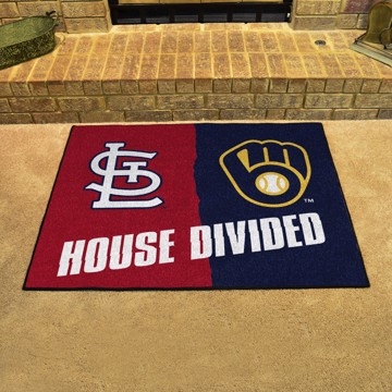Picture of MLB House Divided - Cardinals / Brewers