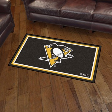 Picture of NHL - Pittsburgh Penguins 3'x5' Plush Rug