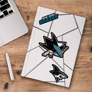 Picture of NHL - San Jose Sharks Decal 3-pk