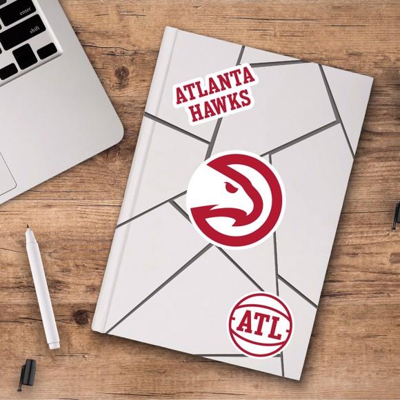 Picture of Atlanta Hawks Decal 3-pk
