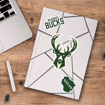 Picture of Milwaukee Bucks Decal 3-pk