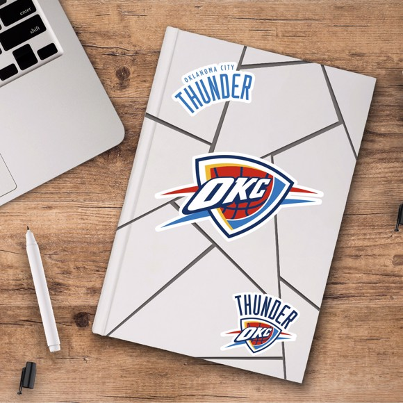 Picture of Oklahoma City Thunder Decal 3-pk