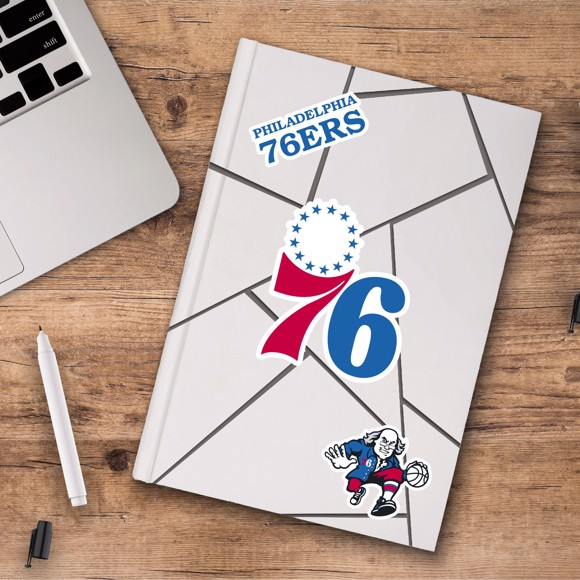 Picture of Philadelphia 76ers Decal 3-pk