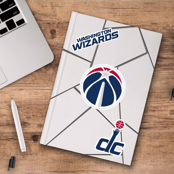 Picture of Washington Wizards Decal 3-pk