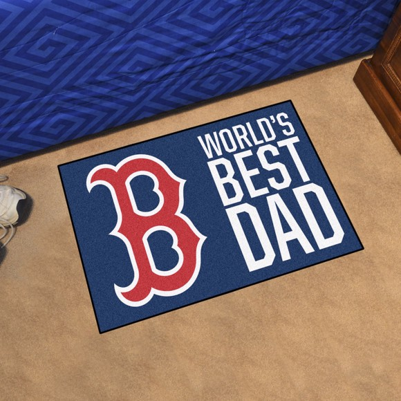 Picture of Boston Red Sox Starter Mat - World's Best Dad