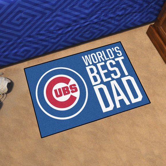 Picture of Chicago Cubs Starter Mat - World's Best Dad