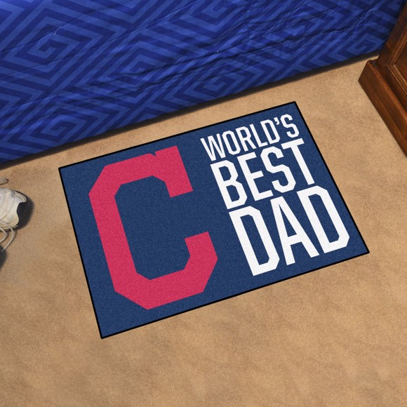 Picture of Cleveland Indians Starter Mat - World's Best Dad