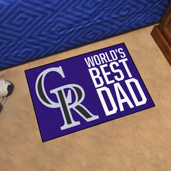 Picture of Colorado Rockies Starter Mat - World's Best Dad
