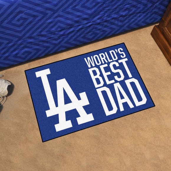 Picture of Los Angeles Dodgers Starter Mat - World's Best Dad