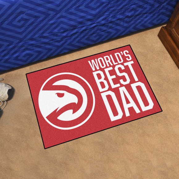 Picture of Atlanta Hawks Starter Mat - World's Best Dad