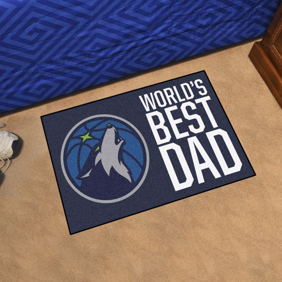 Picture of Minnesota Timberwolves Starter Mat - World's Best Dad