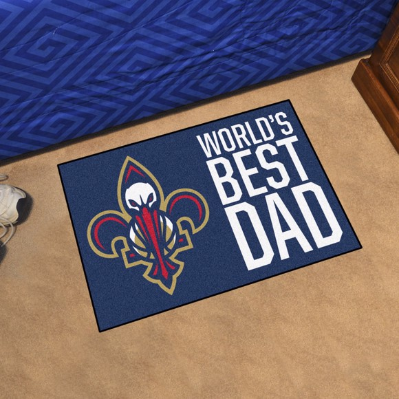 Picture of New Orleans Pelicans Starter Mat - World's Best Dad
