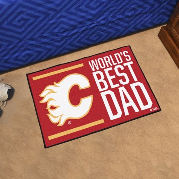 Picture of Calgary Flames Starter Mat - World's Best Dad