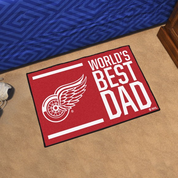 Picture of Detroit Red Wings Starter Mat - World's Best Dad