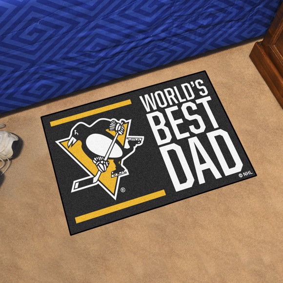 Picture of Pittsburgh Penguins Starter Mat - World's Best Dad