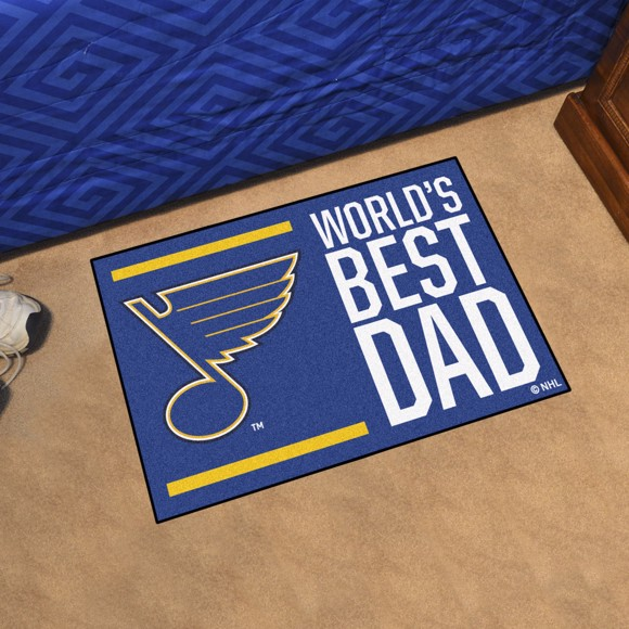 Picture of St. Louis Blues Starter Mat - World's Best Dad