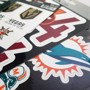 Picture of Charlotte Hornets Decal 3-pk