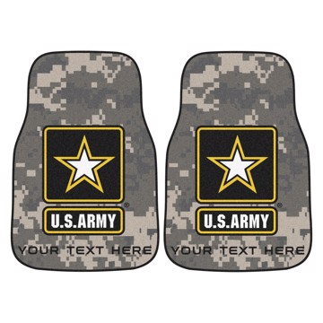 Picture of U.S. Army Personalized 2-pc Carpet Car Mat Set
