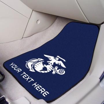 Picture of U.S. Marines Personalized 2-pc Carpet Car Mat Set